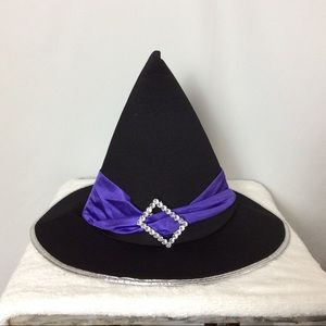 Black and Purple Witches Hat Costume - Adult